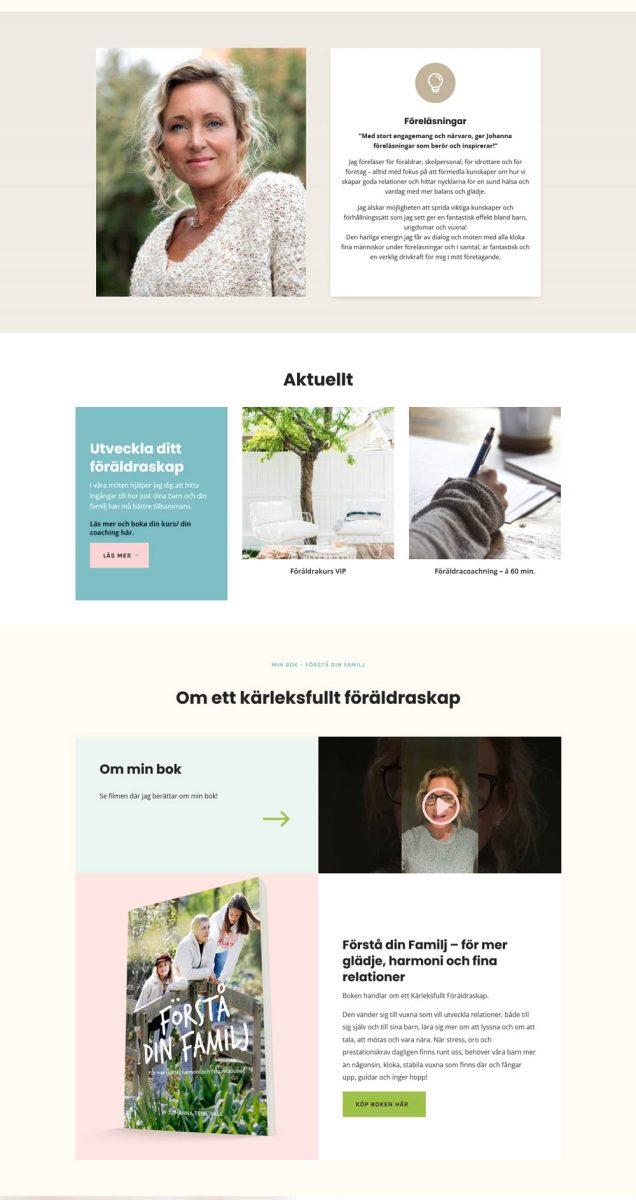 Ny uppdaterad design för hemsida till företag på Limhamn
